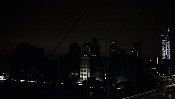 video still of night skyline