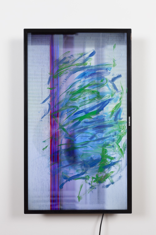 image of screen with paint strokes on the surface